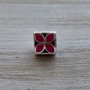 Authentic PANDORA Pink Four-Petal Flower